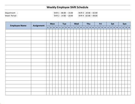 4 Week Schedule Template 3 week schedule template teknoswitch