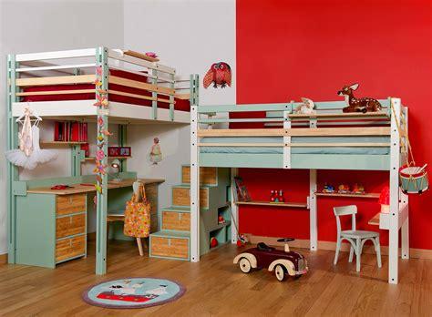 lit mezzanine avec bureau intégré lits mezzanines modulable