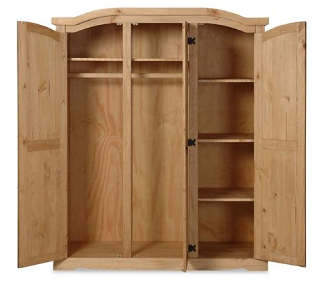 mexican solid pine furniture large triple wardrobe ebay