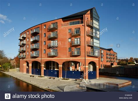 New Build Flats And Apartments In Chester Uk Stock Photo