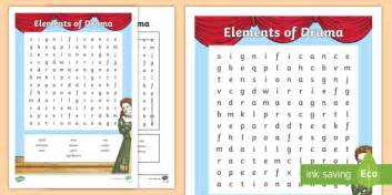 Elements Of Drama Word Search