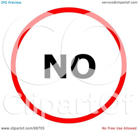 Royalty Free Rf Clipart Illustration Of A Red No Circle