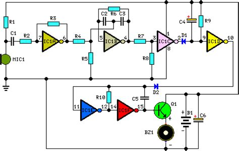 How Build Whistle Responder Schematic Circuit Diagram