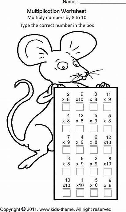 Math Coloring Multiplication Pages Worksheets Grade 3rd