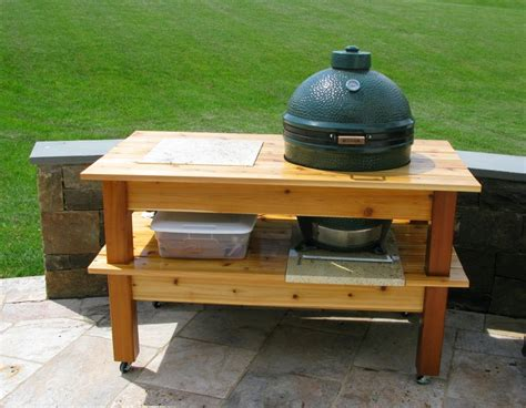 plans for large green egg table door from wood bge table plans