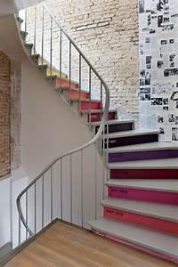 idees pour decorer une montee d39escaliers With peindre un escalier en blanc 10 decorer les contremarches dun escalier