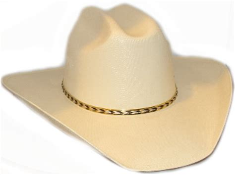 canvas gold banded cream adult cattleman cowboy hat