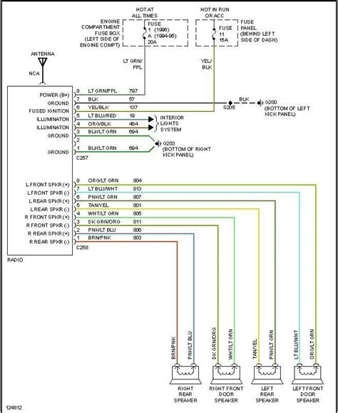 radio install    colors  diagrams