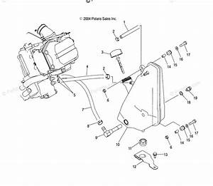 Polaris Atv 2004 Oem Parts Diagram For Oil Tank