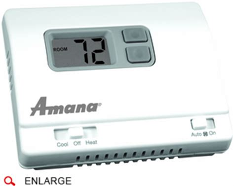 amana 2246002 ptac wall thermostat heat only non programmable cool running hospitality