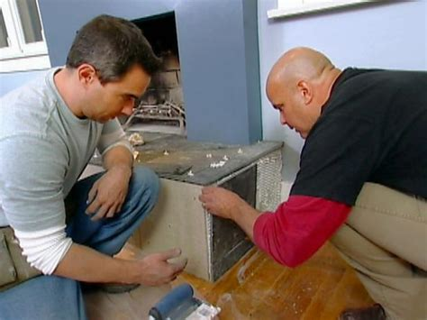 fireplace hearth and mantel makeover hgtv