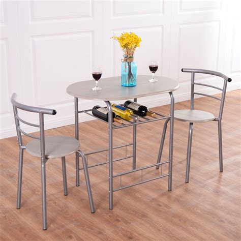 Outdoor Table And Chairs Set by 3pcs Bistro Dining Set Small Kitchen Indoor Outdoor Table