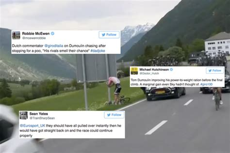 dumolin toilet twitter reacts to tom dumoulin s ill timed toilet stop and