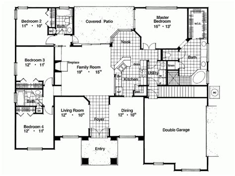 simple  square feet placement house plans