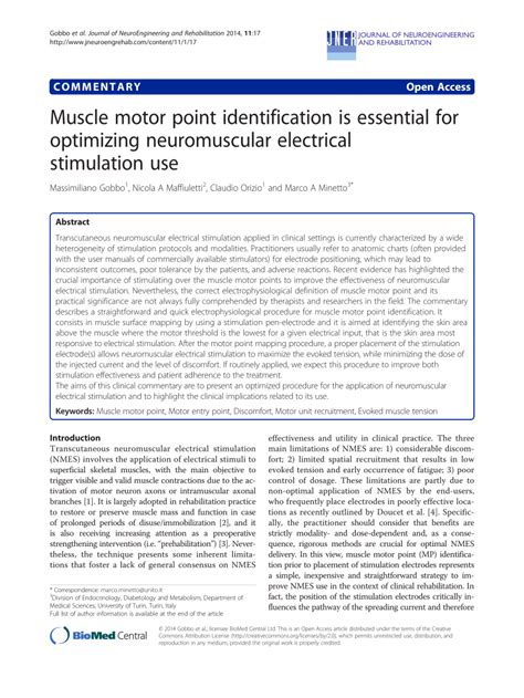 (PDF) Muscle motor point identification is essential for
