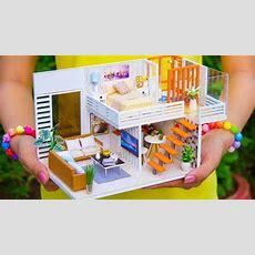 4 Diy Miniature Dollhouse Rooms  Youtube