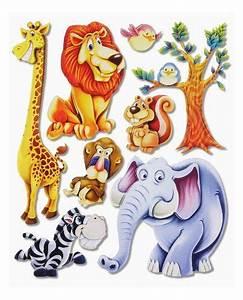 Tierbilder Für Kinderzimmer : stickerkoenig wandtattoo 3d sticker xxl wandsticker kinderzimmer niedliche afrika dschungel ~ Sanjose-hotels-ca.com Haus und Dekorationen