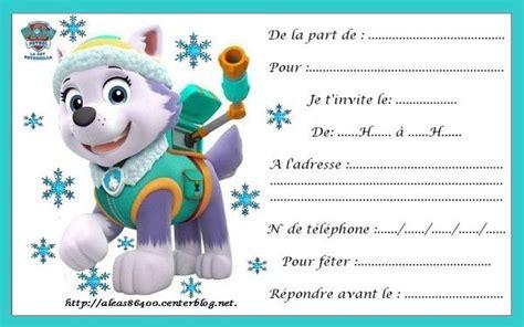 Carte Invitation Pat Patrouille 04