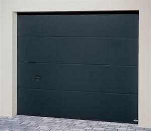 Porte De Garage Gris Anthracite : porte de garage sectionnelle iso 45 panneau sans nervures ~ Melissatoandfro.com Idées de Décoration