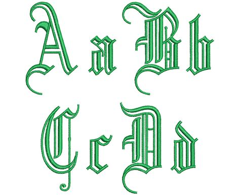 gothic outlines mm font  wilcomembroideryfontscom