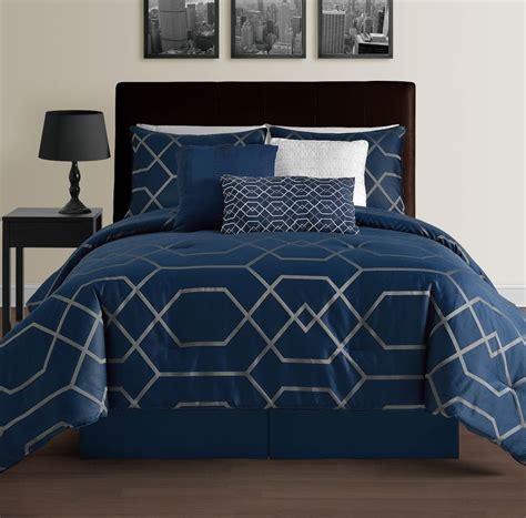 navy blue king comforter hton navy blue king size bed 7pc jacquard grey