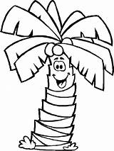 Palm Coloring Tree Pages Smile Coconut Sheet Sheets Leaves Chicka Boom Trees Printable Template Leaf Beach Palms Coloringkidz 43kb 735px sketch template