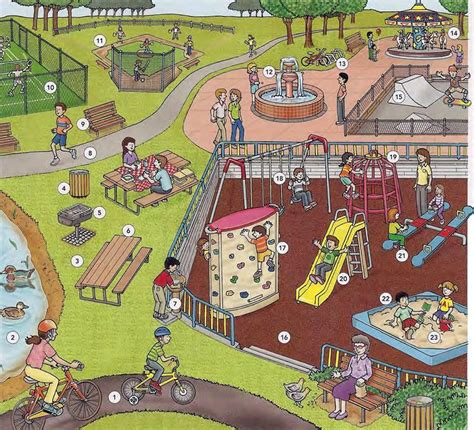 The Park And The Playground Vocabulary English Lesson With Conversation In Pdf Learning