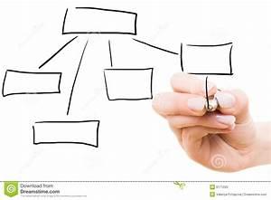 Hand Drawing Diagram Stock Image  Image Of Working  Symbol
