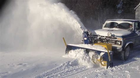 snow blower truck mounted action
