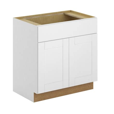 home depot white cabinets hton bay princeton shaker assembled 30x34 5x24 in sink