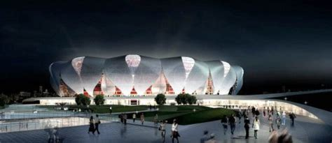 Gigantic Flower Shaped Stadium Blossoming In China