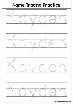 tracing worksheets images preschool names