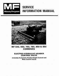 Agco Technical Publications  Massey Ferguson Harvesting-combines   550    750
