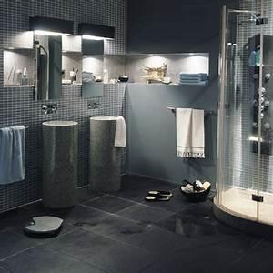 Salle De Bain Gris Et Bleu. 101 photos de salle de bains moderne qui ...