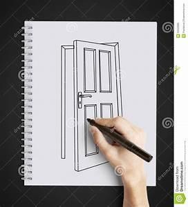 Drawing Door Stock Photo - Image: 32552830