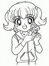 Coloring Pages Anime Cute sketch template