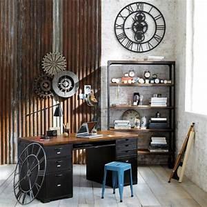 Bureau Style Industriel : bureau de style industriel 23 id es et conseils d 39 am nagement ~ Teatrodelosmanantiales.com Idées de Décoration