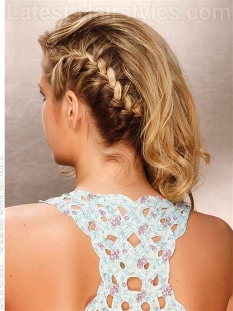 braids on the side with curls hairstyles side braids with curls