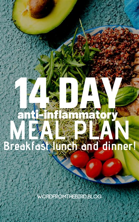 2 Week Anti-Inflammatory Meal Plan - Breakfast, Lunch, and ...