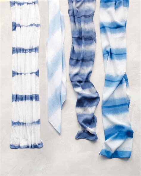 Dip Dyed Scarves And Video Martha Stewart