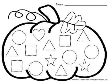 pumpkin shape trace count and graph freebie 759 | 47acc3df80346cf958ae13f6ee613a6d