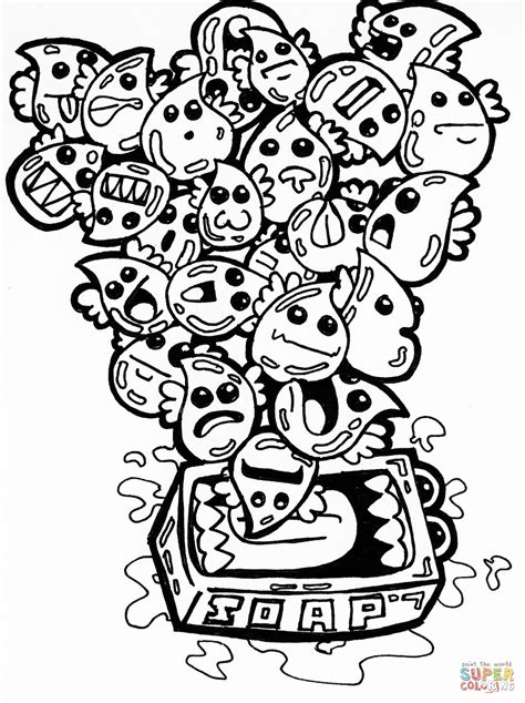 Coloring Doodle by Soap Bubbles Doodle Coloring Page Free Printable