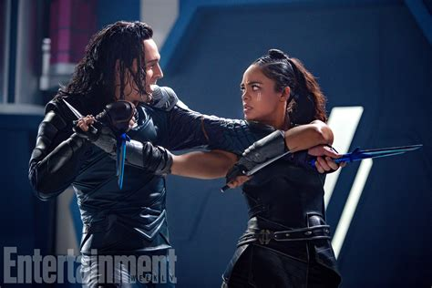Thor Ragnarok Valkyrie And Loki Get Physical In New