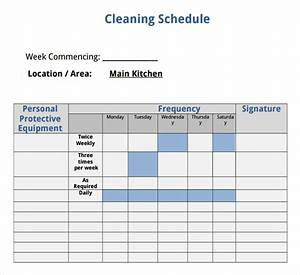 sample house cleaning checklist 13 documents in word pdf With domestic cleaning schedule template