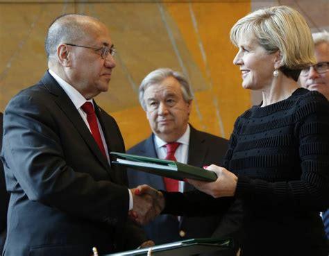 Australia And East Timor Sign First Maritime Border Treaty