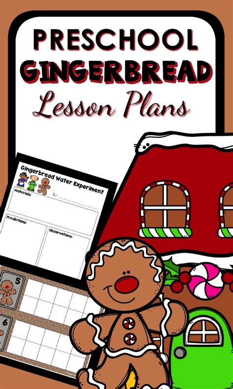 gingerbread theme preschool classroom lesson plans 742 | Preschool GBM Lesson Plans pin