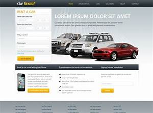 Template   160 Free Car Rental Website Template Is Great