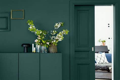 la elegancia del verde oscuro interior notes