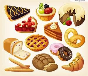 4-Designer Vector material of delicious cartoon dessert
