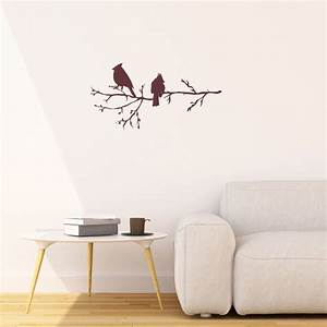 winter birds on branch vinyl wall stickers for modern With modern wall decals